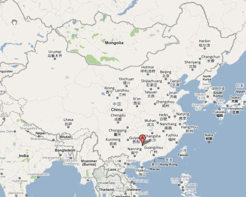 guilin-china-map