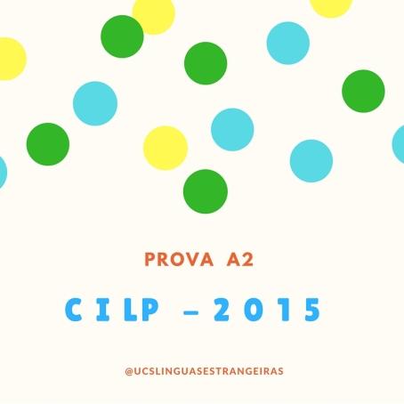 Prova A1cilp2015