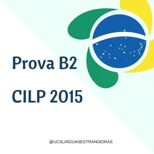 Prova B2CILP 2015